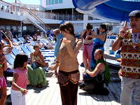 Arabian Nights at Sea Bellydance Cruise - Saturday afternoon drumming and dancing